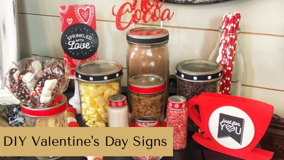 Learn to create EASY and adorable DIY Valentine's Day Signs with Chalk Couture. These are perfect for crafting, vendor fairs & home decor. #rusticorchardhome #valentinesday #valentinesdaycraft #chalkcouture #chalkcoutureideas