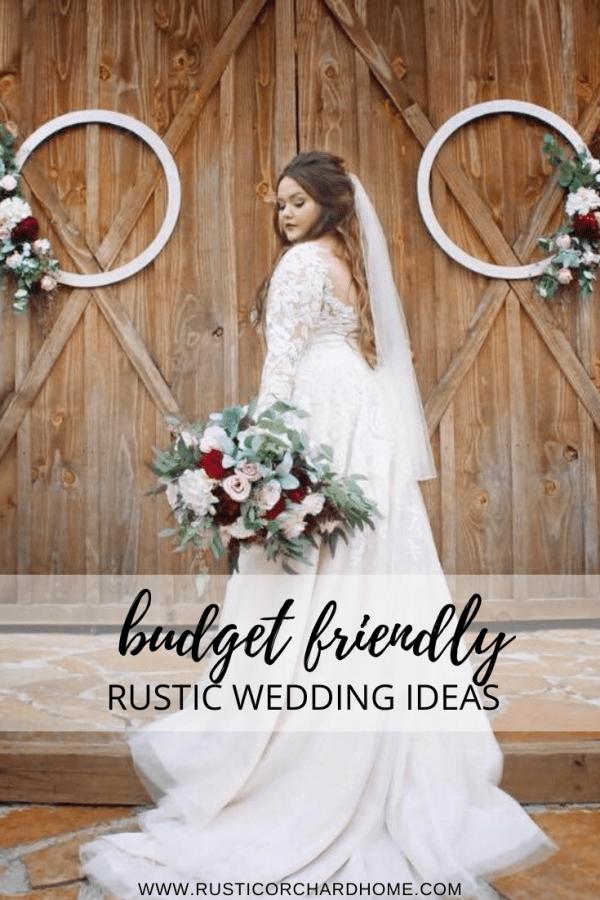 Learn how to make Rustic Wedding Wreaths with this budget friendly wedding decor idea. #rusticorchardhome #weddingdecor #rusticwedding #weddingwreaths #weddingdecoronabudget