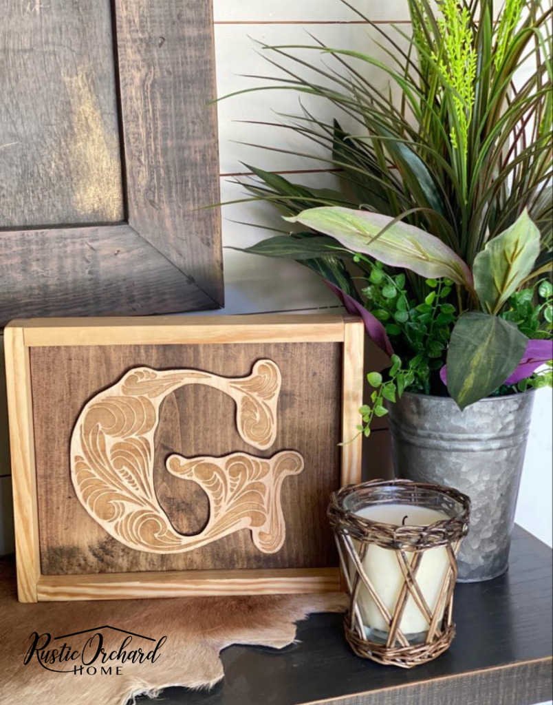 This wood initial sign is a great handmade gift idea for any occasion.