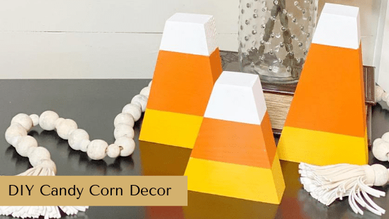 DIY Candy Corn Decor