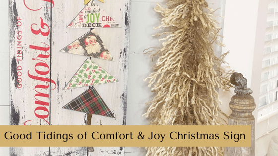 Comfort & Joy Christmas Sign