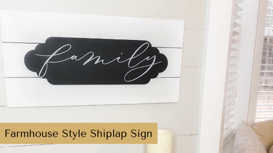 This Farmhouse Style Shiplap Sign DIY is the perfect budget friendly home decor idea for all seasons.