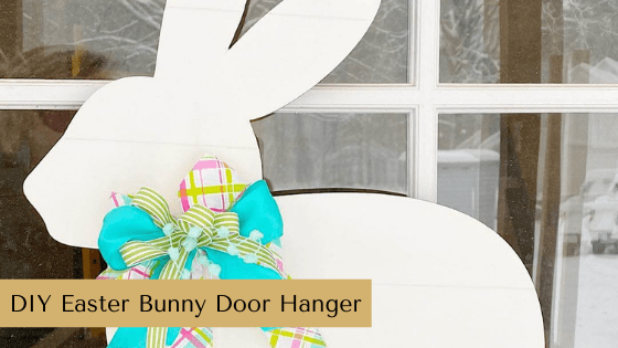 Make your own Easter Bunny Door Hanger with this adorable wooden cutout and paint! This is a simply DIY that you'll love to have as a part of your Farmhouse Spring Home Decor.