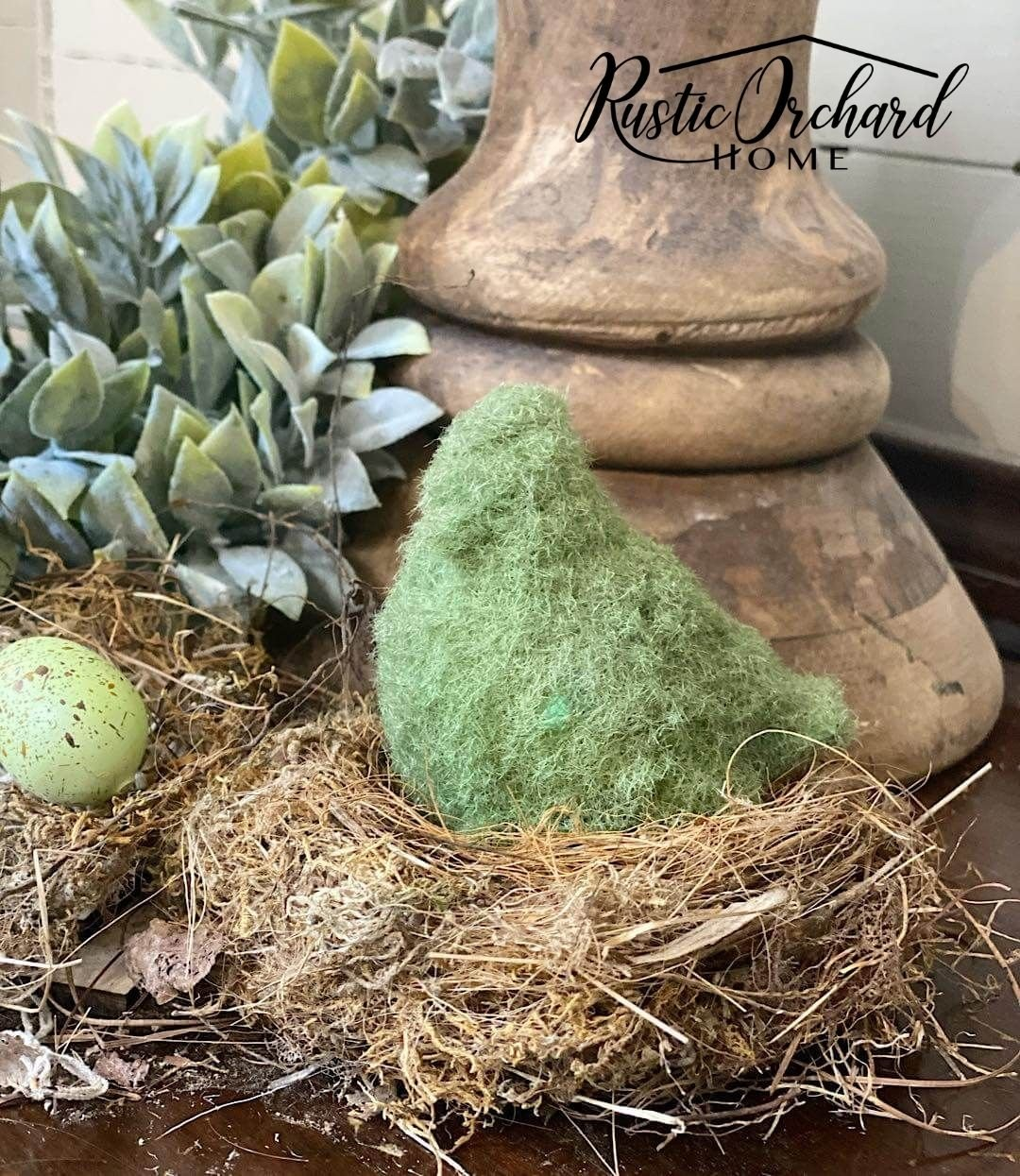 Learn how to add grass flocking to your Easter and Spring décor with this simple Farmhouse Home DIY.