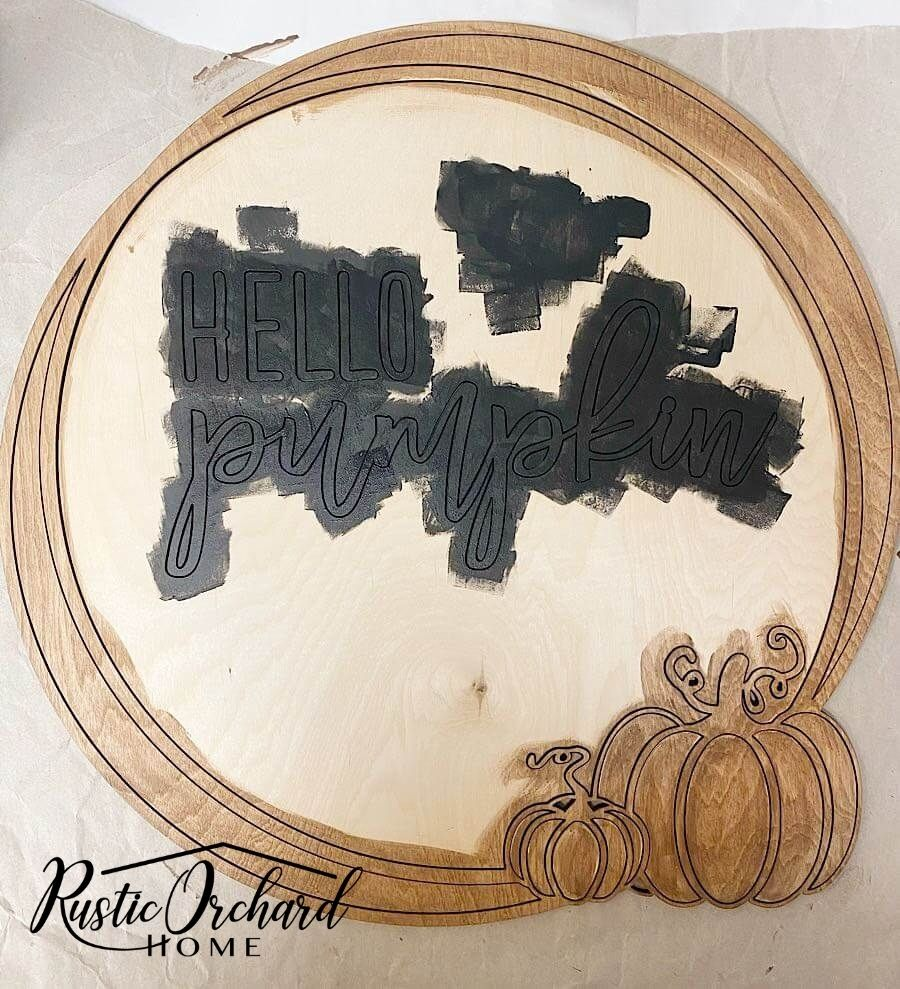 Create your own Hello Pumpkin Door Hanger! I'll show you how to make your own door hanger for fall with this simple tutorial.