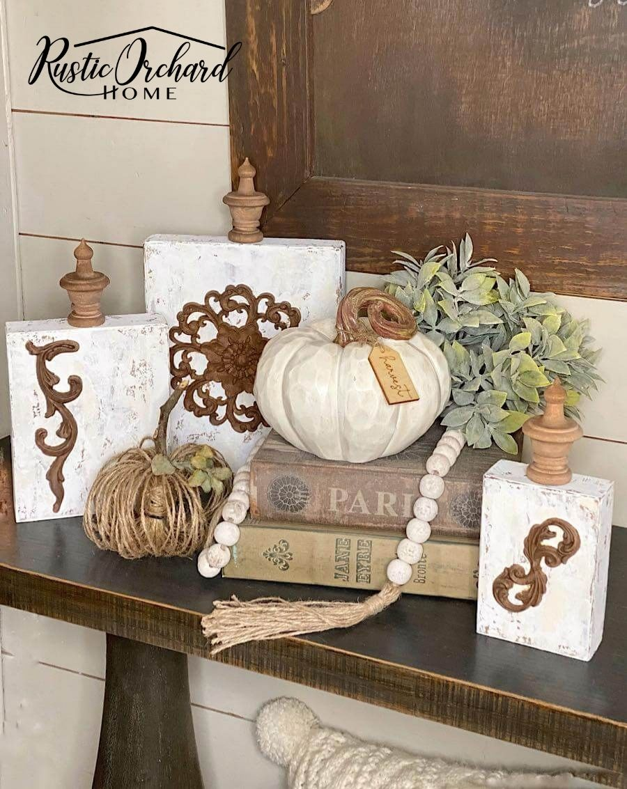 Make your own DIY Fall Wood Block Décor using this simple fall wood craft idea!