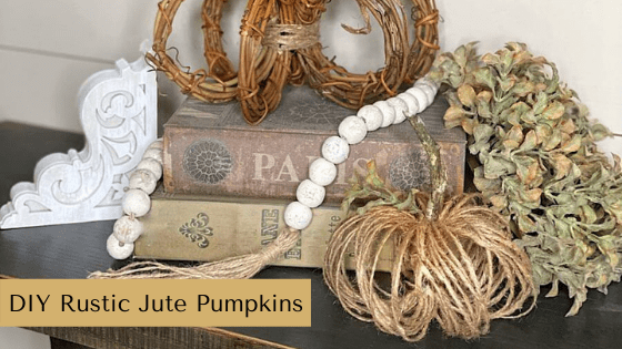 Make your own DIY Rustic Pumpkins using jute and grapevine wreaths. These pumpkins are perfect for anyone who loves rustic fall home décor.