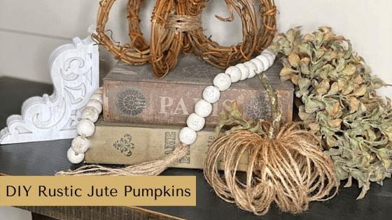DIY Rustic Jute Pumpkins