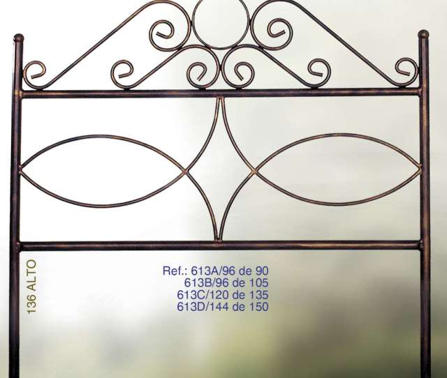 Wrought Iron Headboard Mod 613