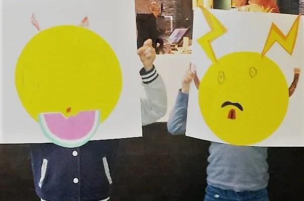 Emoticons - blij en boos. Rust in mijn hoofd coaching