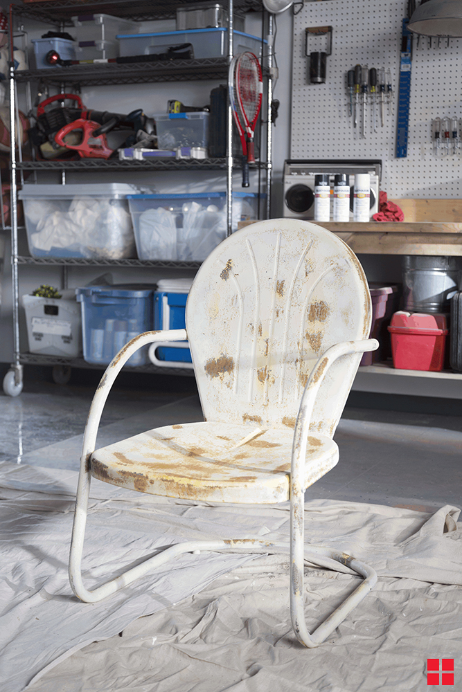 Makeover A Rusty Metal Chair With Rust Oleum Stops Rust