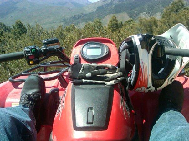 quad on the mountain