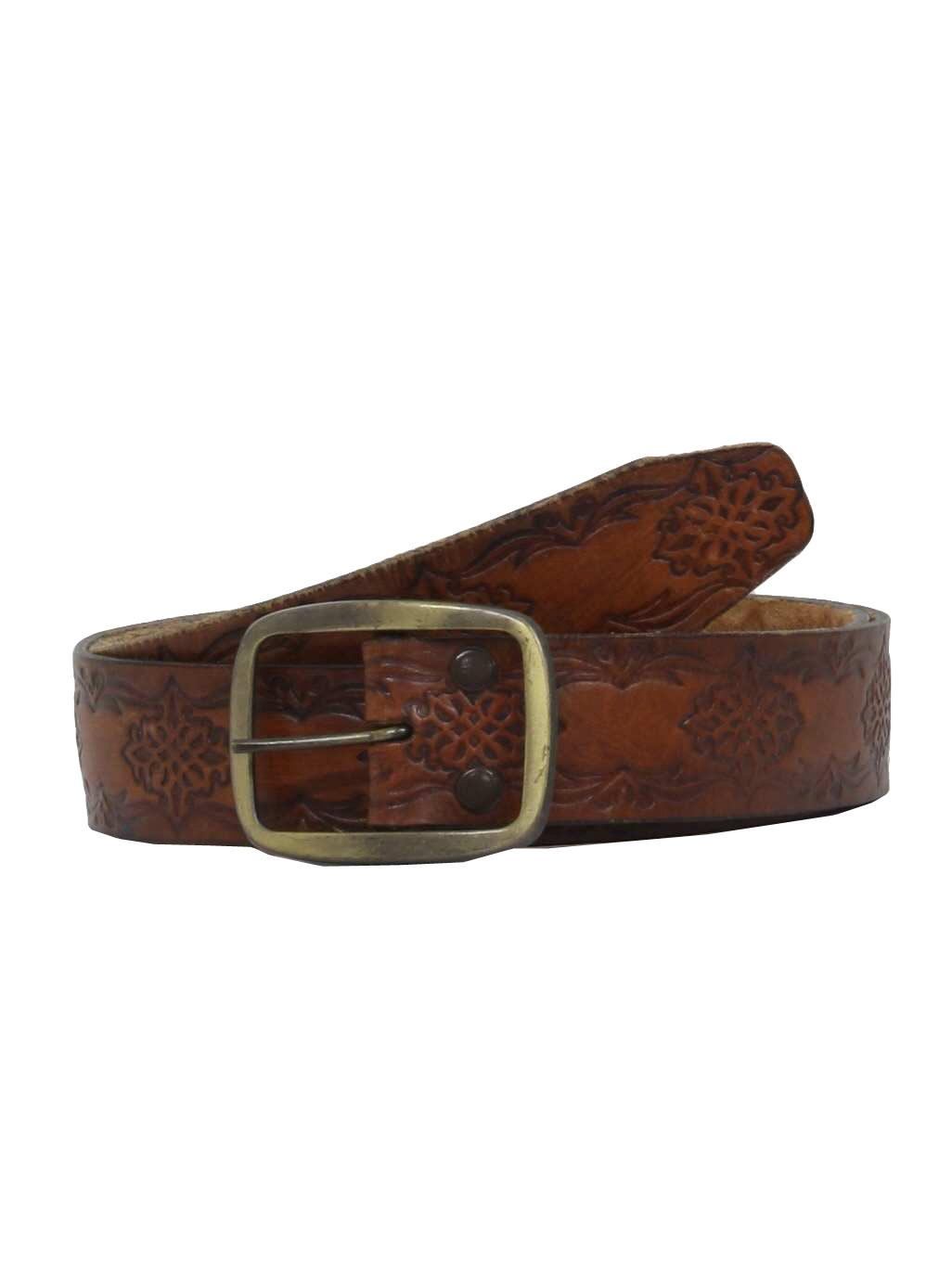 1970s Belt Missing Mark 70s Missing Mark Mens Wine