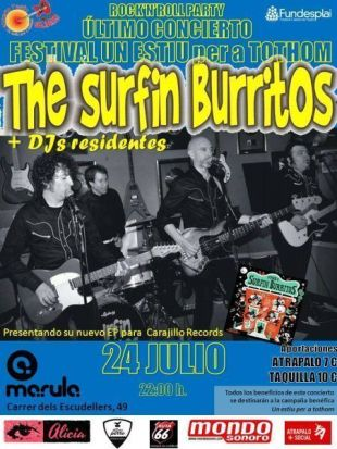 POSTER SURFIN BURRITOS