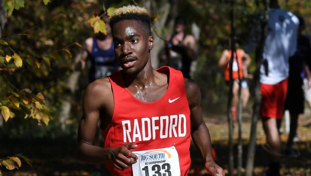 Cameron Mims finished in second place for Radford. Courtesy of Radford Athletics