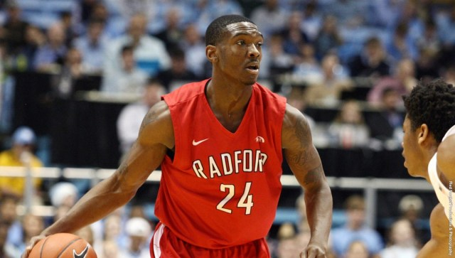 Ed Polite, Jr. collected two double-doubles in last week's men's basketball action. Courtesy of Radford Athletics