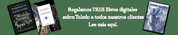 Regalamos tres libros sobre Toledo con nuestras rutas