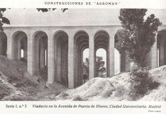 Viaducto de la Avenida de Puerta de Hierro. Ciudad Universitaria.