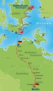 en bici de Berlín a Copenhague