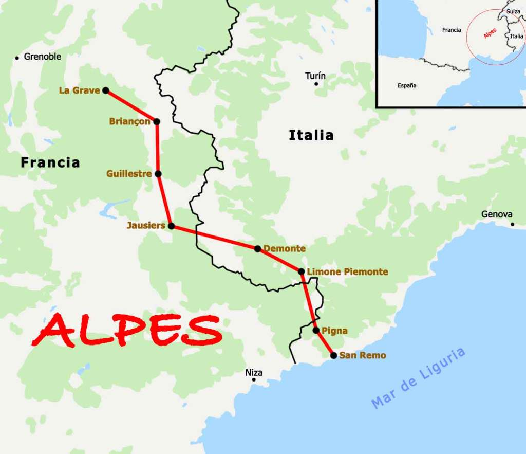 Alpes en bicicleta