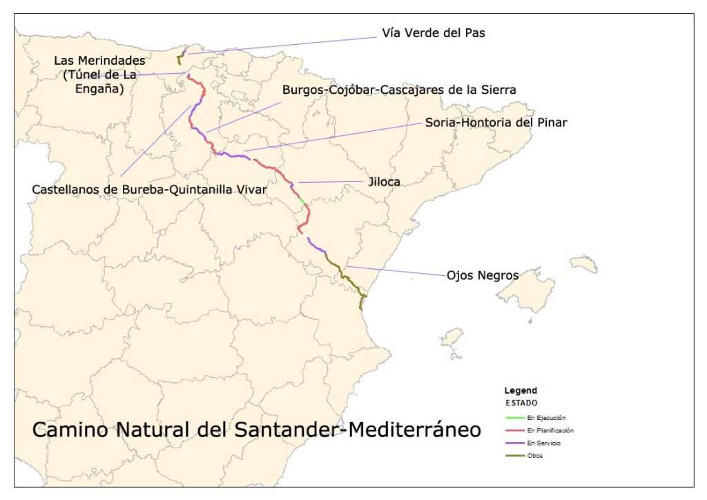 Camino Natural Santander Mediterráneo