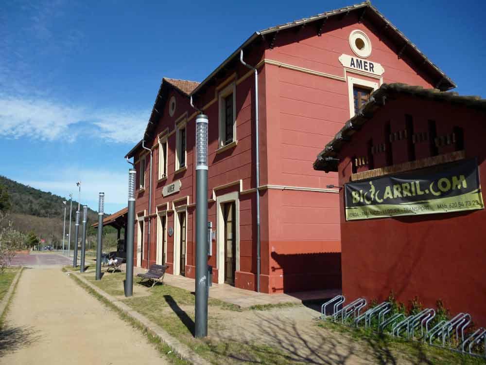 Estación de Amer en el Carrilet