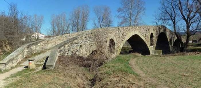 Camí de Sant Jaume Puente Bruguer en Vic