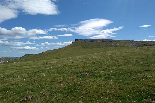 Llegando a Uzkuiti en Aralar