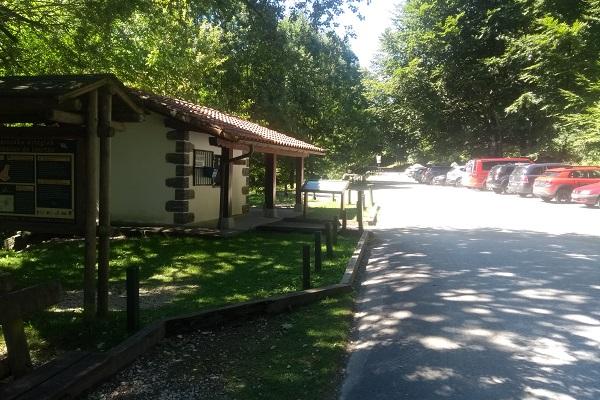 aparcamiento embalses de Leurtza