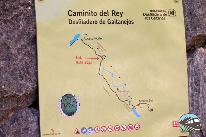 Plano del recorrido - Caminito del Rey