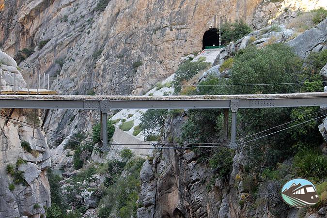 Uno de los puente del Caminito del Rey