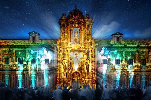 Espectaculo de luz de San Telmo