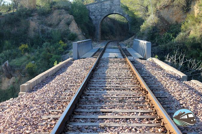 Atravesando las vías del tren – Sierra Mariola