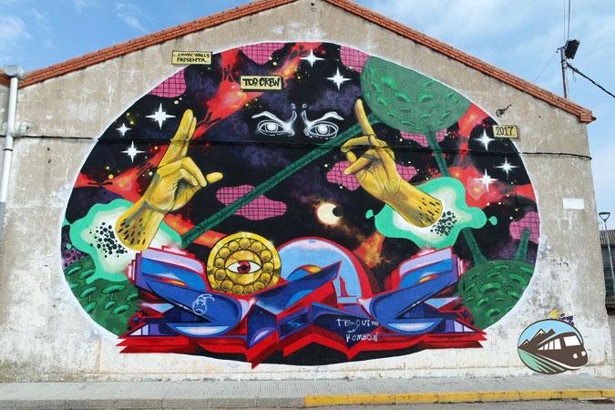 Mural dedicado al Doctor Extraño - El Provencio