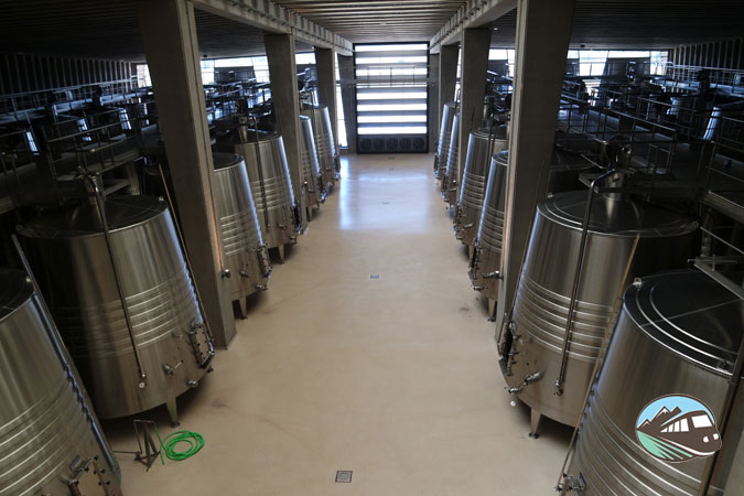 Zona de depositos - Bodegas Portia