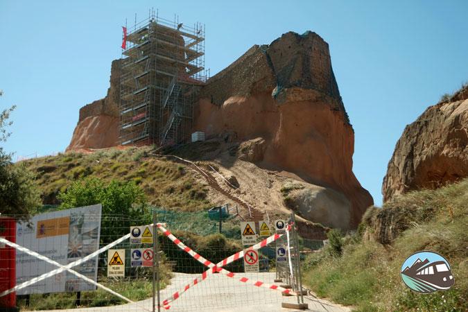 Castillo de Arnedo en obras