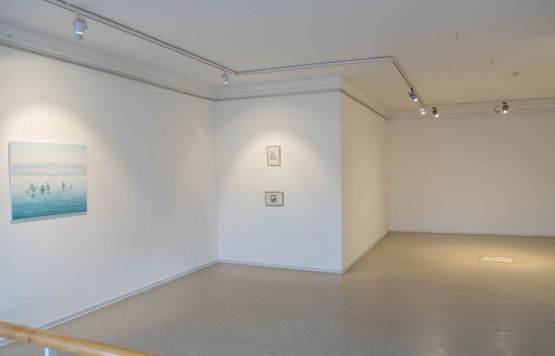 white gallery space, curated minimal painting exhibition