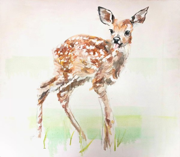 Image of Bambi Portrait painting by Ruta Matuleviciute