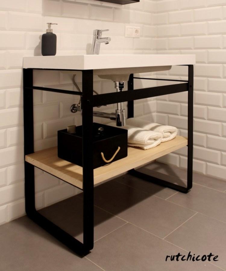 Diseño-Mueble-de-baño-hierro-madera