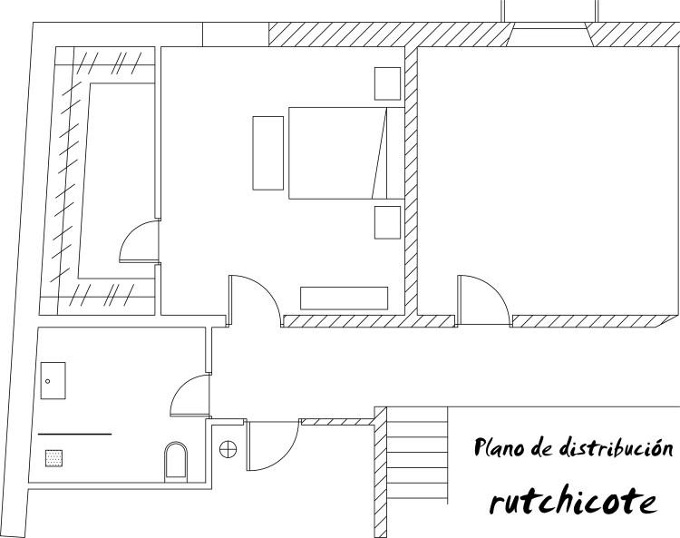 PLano de distribución de baño y dormitorio1
