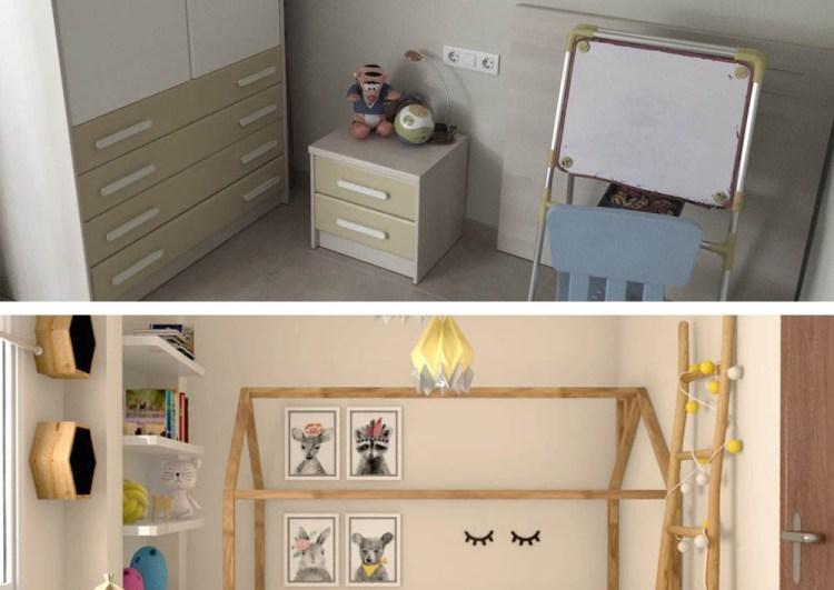 Proyecto de interiorismo, habitación infantil