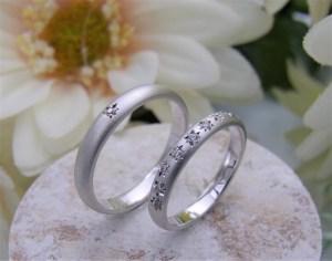 結婚指輪 石留めリング