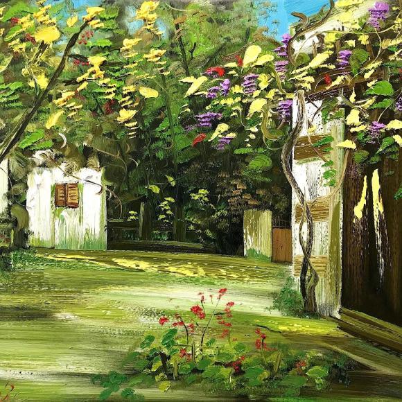 Around the corner 110x130 cm - Le Minh Duc - Luxembourg Art