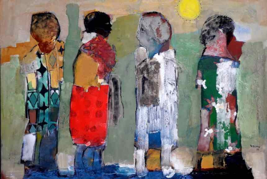 Soleil couchant - Emile Youmbi - Ruth Gallery Luxembourg