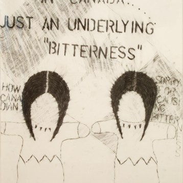 Living-Post-Oka-Kind-of-Woman (panel 6), 1990 graphite on paper 101.6 x 71.2 cm Collection of the MacKenzie Art Gallery
