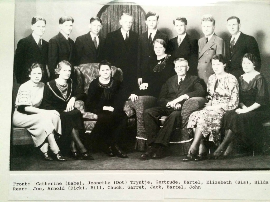 The Zandstra family, whose eldest son died in the 1918 flu