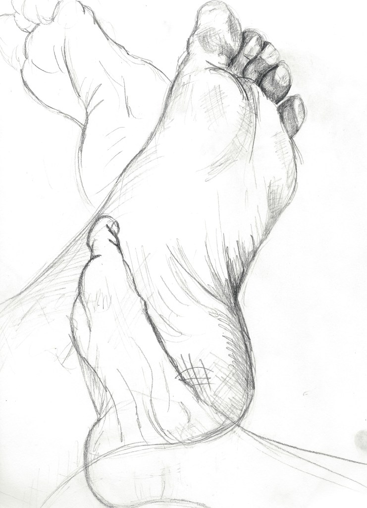 My Feet- Art by Ruth Helen Smith