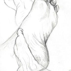 My Feet- Art by Ruth Helen Smith
