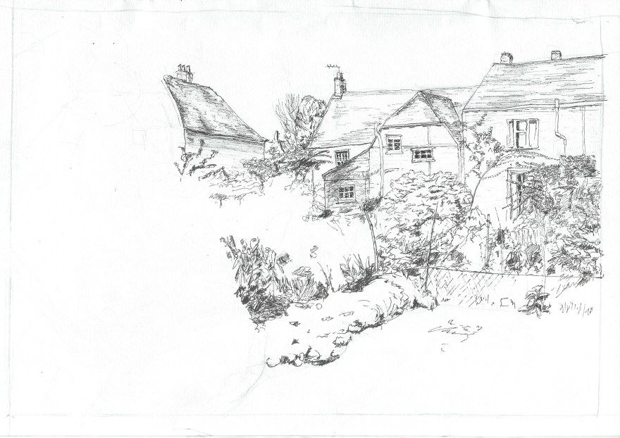 Yew Tree House Broughton - Art by Ruth Helen Smith