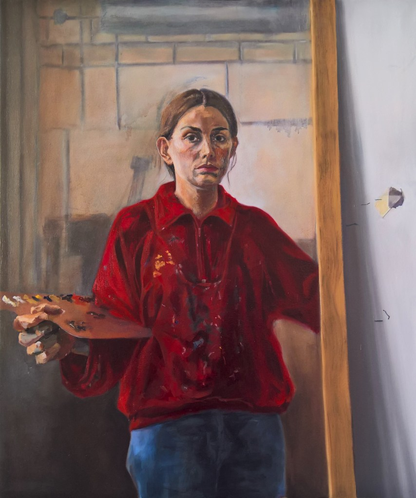 Self Portrait - Painting by Ruth Helen Smith
